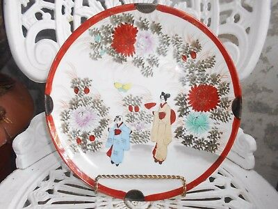 fantastic satsuma made in japan display charger handpainted plate by mikado