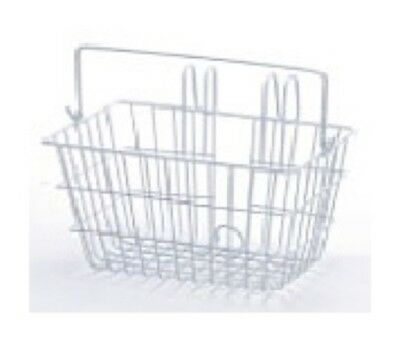 Brand new Bike Bicycle Basket Front Wire White Hook Type Womens Girls