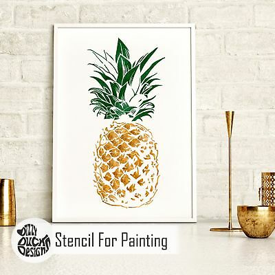 PINEAPPLE Tropical Fruit Stencil - Furniture Wall Floor Stencil for Painting
