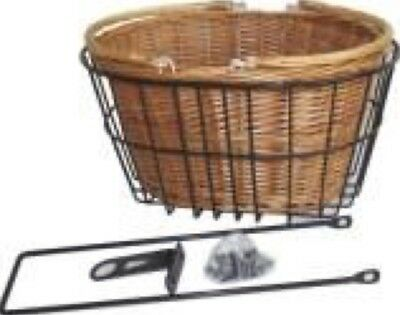 Brand new Bike Bicycle Basket Wicker with Steel Fixed Basket for Quill Stem