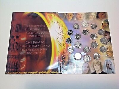 Lord of the Rings Official New Zealand Coins 2004 (Book of 18) NZ Royal Mint