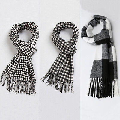 POP Men Women Winter Warm Scarf Solid Plaid Wool SCOTLAND High quality Scarf US