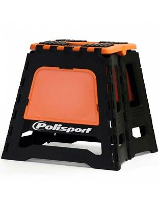 Repose moto pliable Polisport - Noir / Orange - Dirt bike / Pit bike / Mini Moto
