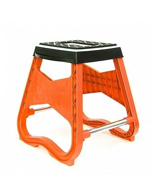 Repose Moto / Tabouret MX - Orange - Dirt bike / Pit bike / Mini Moto