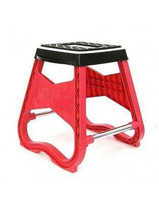 Repose Moto / Tabouret MX - Rouge - Dirt bike / Pit bike / Mini Moto