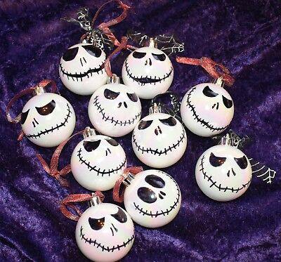 1 Jack skellington inspired / Nightmare Before Christmas style Christmas bauble