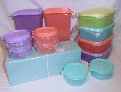 TUPPERWARE Petite Bowl set OR MM Mini Rectangle #1 Set OR Cracker Keepers Set!
