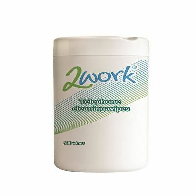 2Work Telephone Cleaning Wipes (Pack of 100) DB50347 [PROMO-DB50347]