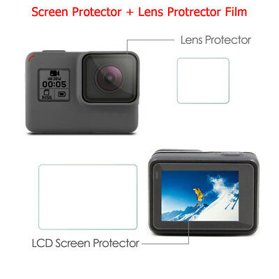 Clear LCD Screen Protector + Lens Protrector Film For GoPro Hero 5