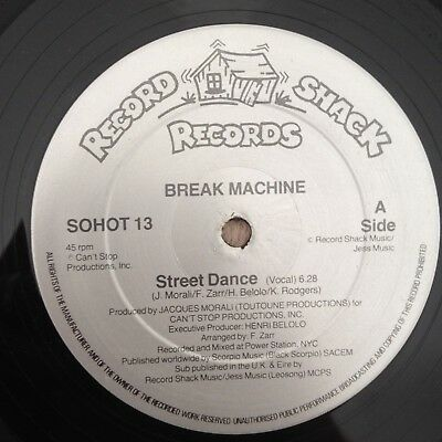 "12"" Break Machine Street Dance 1983."