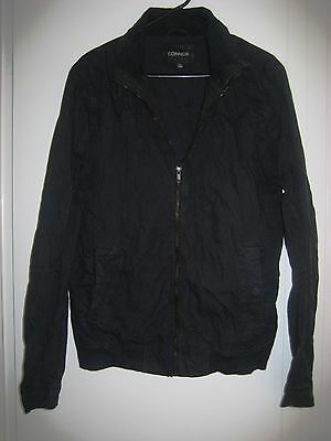 Boys Black 100% Cotton zip up  Jacket Size S (13 - 15 Years )
