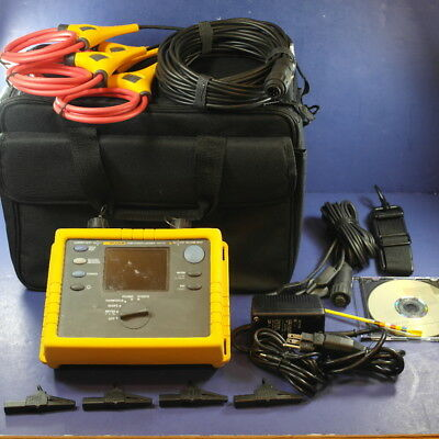 Fluke 1735 Power Logger Analyst, Case and Accessories, Good Condition!
