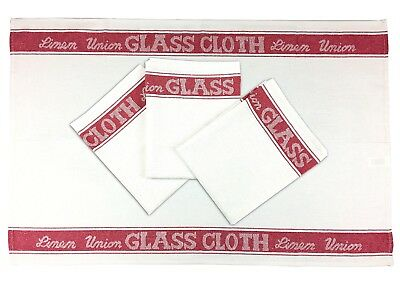 Red - Glass Cloth, 4 Pack, Tea Towel, Linen Union, Catering, Bar Towel