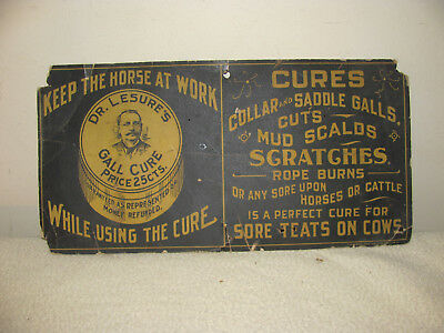Dr. Lesures Gall Cure Cardboard Sign
