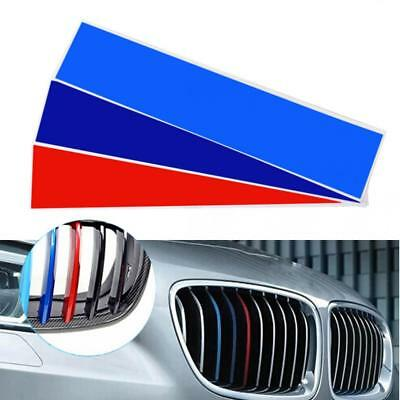 1set PVC Front Grill Stripes Decals M Power Sport Stickers for BMW