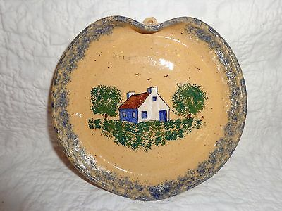 Vintage Left-Handed Russell Henry Pottery Hanging Wall Plaque, 1977