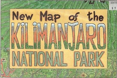 New Map of the Kilimantjaro National Park 2005