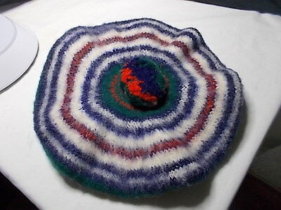 Vintage Dress MacDonald Tam / Beret - Made In Scotland 100% Wool - Collectable