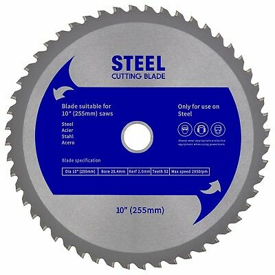 255mm Steel Cutting Blade to suit Evolution Rage3,Rage3-BD,Rage5, Rage5S,Rage6