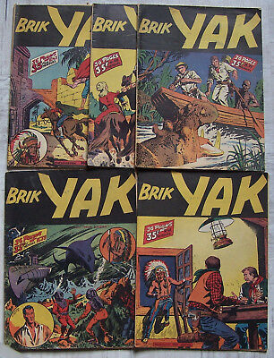 Brik YAK lot de 5 num. 1951/54 Aventures et Voyages BD 39 43 46 68 71 BE CEZARD