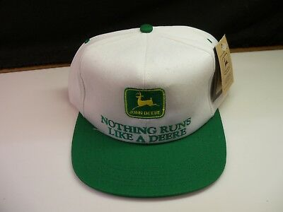 John Deere Green & White Hat Cap Vintage Old Store Stock - New w/ Tag