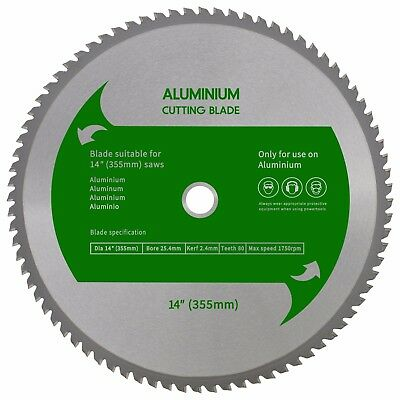 "TCT Aluminium Blade 14"" (355mm) to Suit EVOSAW355 Evolution 355mm Chop Saw"