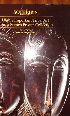 sothebys catalog tribal art from a French collection 21 June 1991