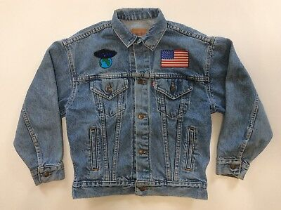 Vtg Levi'S Denim Jean Jacket Children Size M Vintage Made In Usa Rare 12-14
