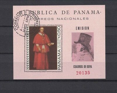 Panama 1967 Minr Bl 79 used / O paintings Gemälde Goya Kardinal