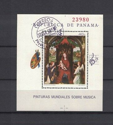 Panama 1968 Minr Bl 93 used / O paintings Gemälde Memling