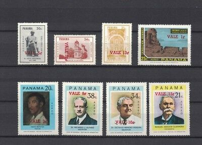 Panama 1974 Minr 1251 - 1258 ** / mnh overprints definitives Freimarkensatz