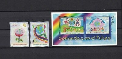 Panama 2000 Minr 1850 - 1851 Bl 137 ** / mnh children dreams Kinderträume