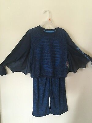 HOW TO TRAIN YOUR DRAGON Nightfury Toothless  2pc PAJAMAS  W/ WINGS size S6-7