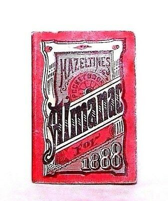 1888 MINIATURE HAZELTINE'S Quack Medicine POCKET-BOOK ALMANAC Warren, PA PATENT