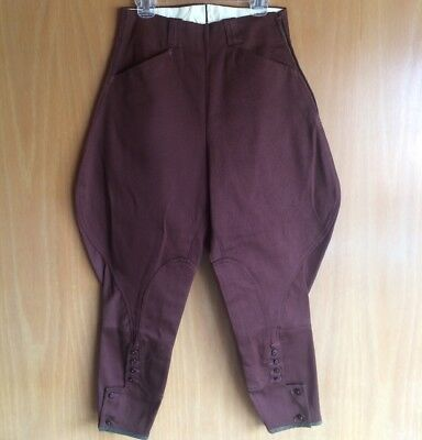 Vtg NOS Mint Christenfeld Brown Cotton Women's Jodhpur Horse Riding Pants