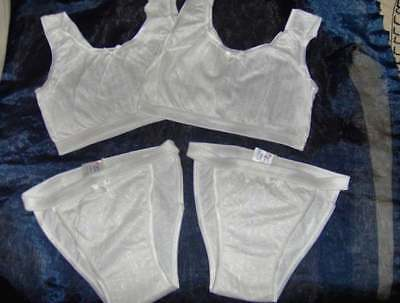 698438a77906b DOUBLE PACK GIRL TEEN CROP TOP SETS (2 sets) -WHITE AGE 11