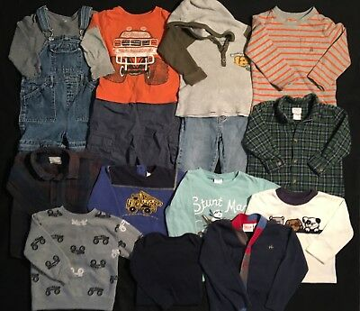 Baby Toddler Boy's Fall Winter Clothes 24 Mos. 2T 15 Piece Lot