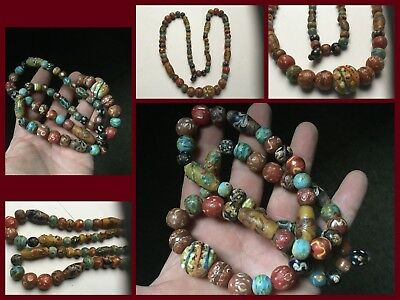 Rare Genuine Roman Necklace Bead Group C1st 3rd Cent AD BEAUTIFUL BEADS