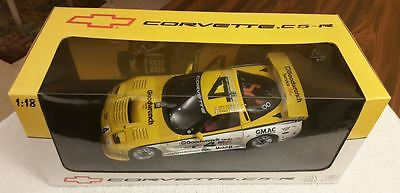 2000 Chevrolet Corvette C5-R, Autoart, Racing #4 ALMS 2000, 1/18, Yellow, NIB.