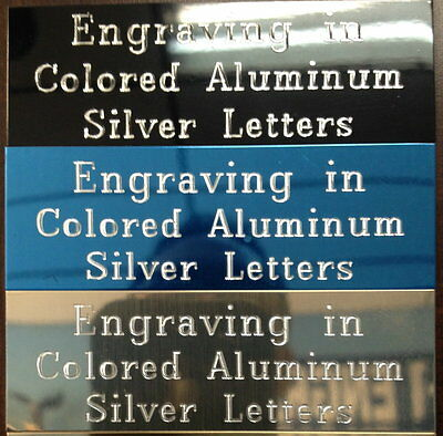 """3x1""""  Aluminum Plate Engraved Engraving Plaque Name ID Tag  Trophy Flag Case"""