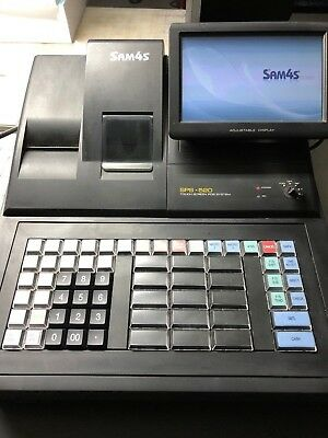 "SAM4S SPS-520 7"" Touch Screen POS Cash Register USED"