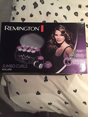REMINGTON H0747 JUMBO CURLS Ceramic Rollers Hair Styling Soft Touch Wax Core