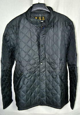 Barbour FLYWEIGHT CHELSEA Quilted Jacket 40g Navy Blue AUTHENTIC Mens Medium NEW