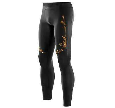 SKINS A400 Men's Compression Tights - Long Tights - Black/Gold