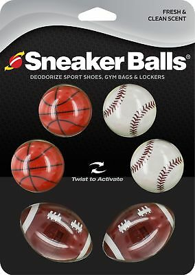 SneakerBalls - Deoderize Sport Shoes, Gym Bags & Lockers - Sports 6 Pack