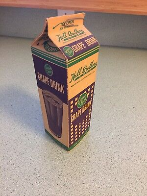 1960's GREEN SPOT Grape Drink Carton