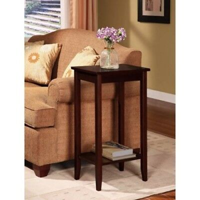 SMALL END TABLE Chair Side Plant Stand Narrow Wood Living ...