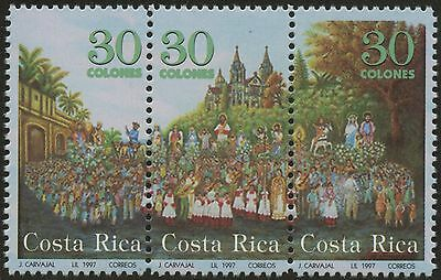Costa Rica 1997 MNH Stamp Strip | Scott #496 | Holy Family | CRE73