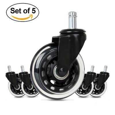 Cusfull 5pcs Office Chair Caster Wheels Replacement Quiet Rolling & Safe for Any