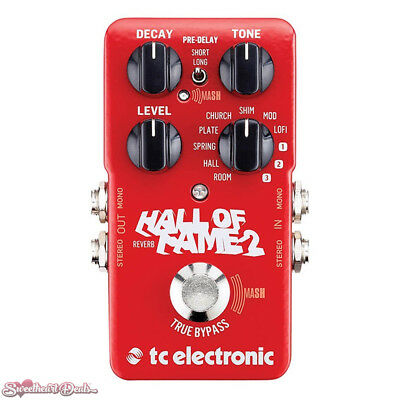 TC Electronic Hall of Fame HOF 2 Reverb Guitar Effect Pedal